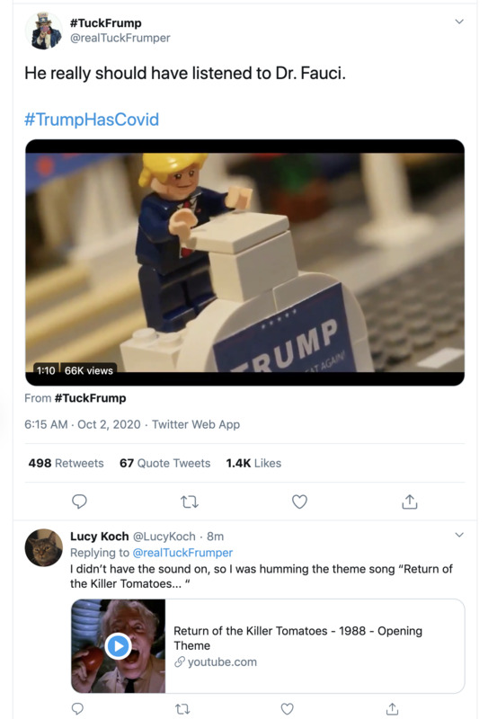Trump Has Covid Lego Movie A Journal Of The Plague Year Covid 19 Archive